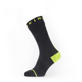 Sealskinz Waterproof All Weather Calcetines de longitud media, negro/amarillo